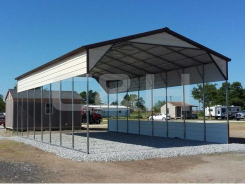 VERTICAL ROOF CARPORT 24W x 41L x 12H