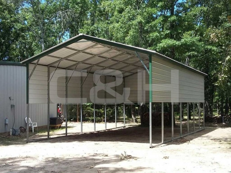 Vertical Roof Carport 20W x 36L x 10H