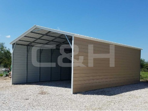 VERTICAL ROOF CARPORT 18W x 36L x 10H
