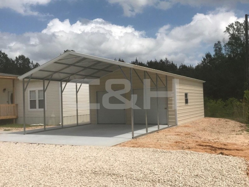 Vertical Roof Carport 20W x 41L x 10H