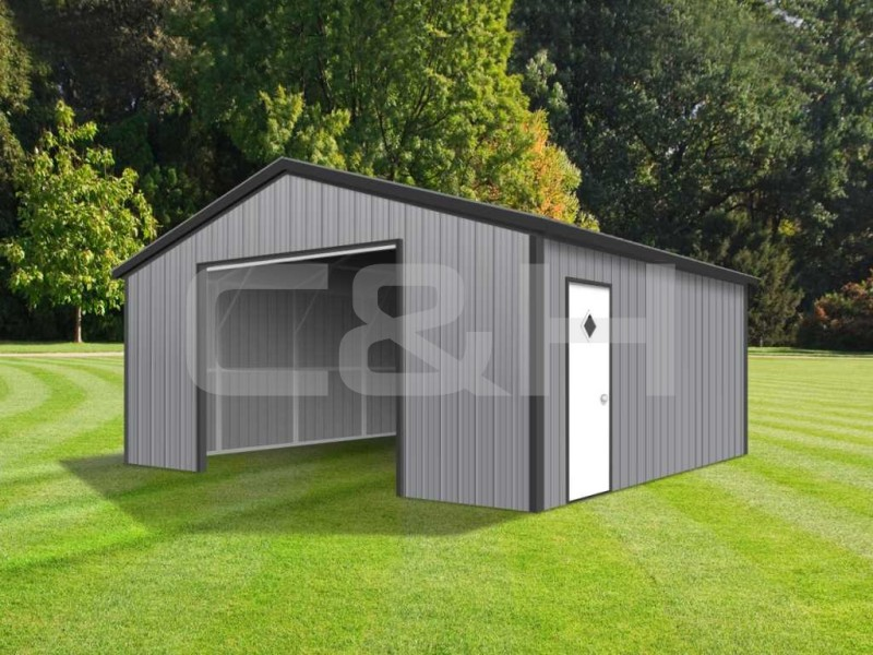 Vertical Roof Garage 18W x 21L x 8H