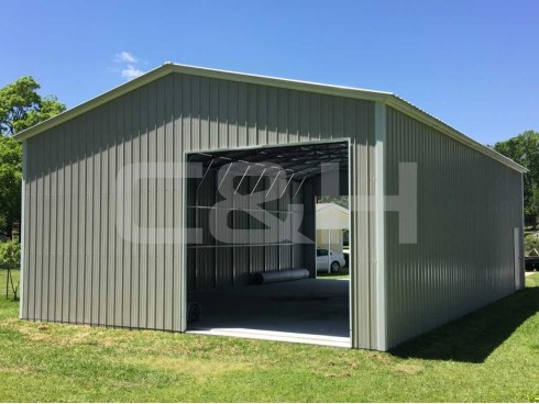 VERTICAL ROOF GARAGE 22W x 51L x 10H