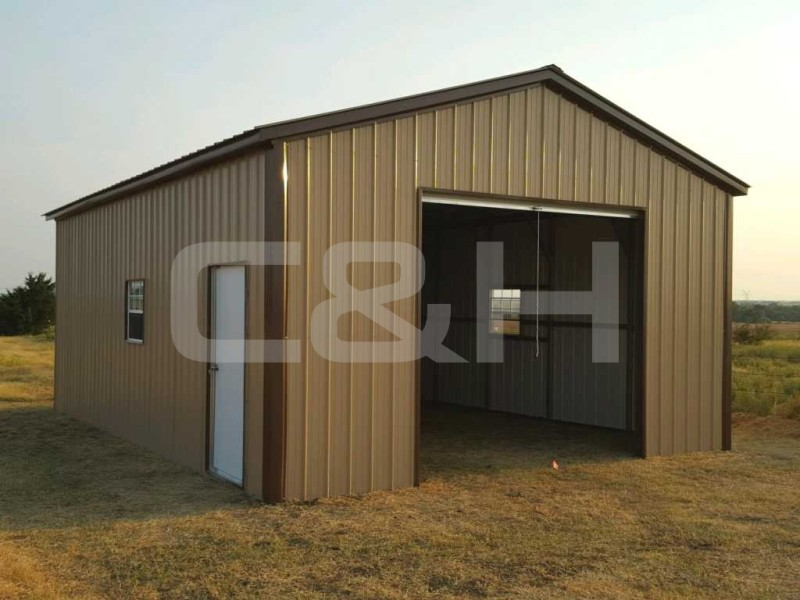 Vertical Roof Garage 18W x 31L x 10H