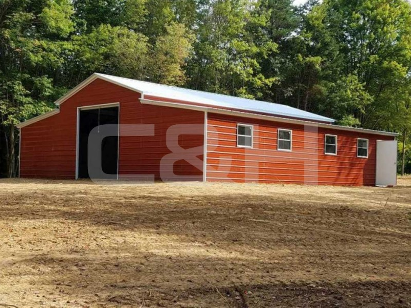 Texas A-Frame Barn with Vertical Roof 42Wx41Lx12H
