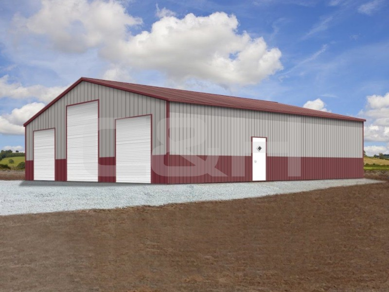 CLEAR SPAN COMMERCIAL BUILDING 40W x 51L x 12H
